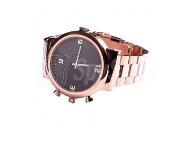 Klasyczny, metalowy zegarek męski z kamerą WW144