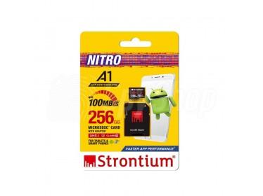 Karta pamięci microSDHC o pojemności 256 GB i prędkości 100 mb/s