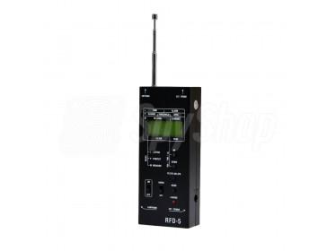 Precyzyjny wykrywacz podsłuchów i transmisji radiowych RFD-5