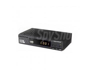 Dekoder telewizji cyfrowej DVB-T z ukrytą kamerą WiFi