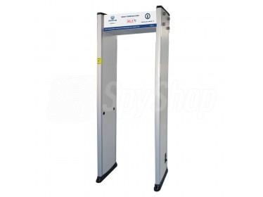 Bramka do wykrywania metali UB500-T z funkcją pomiaru temperatury