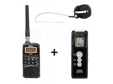 Podsłuchowy zestaw rejestrujący WSR-3 - skaner, dyktafon, podsłuch