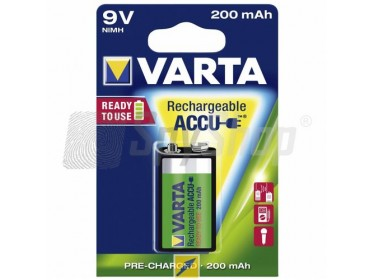 Akumulator Varta Ready2Use 9V/6F22 200mAh