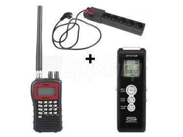 Podsłuchowy zestaw szpiegujący WSR-2 - nadajnik, skaner, dyktafon