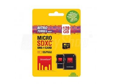 Karta pamięci Strontium microSDHC 128GB o szybkim transferze 70MB/s