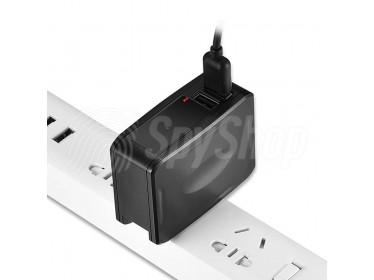 Dyskretna kamera AC-T35 ukryta w sieciowej ładowarce USB
