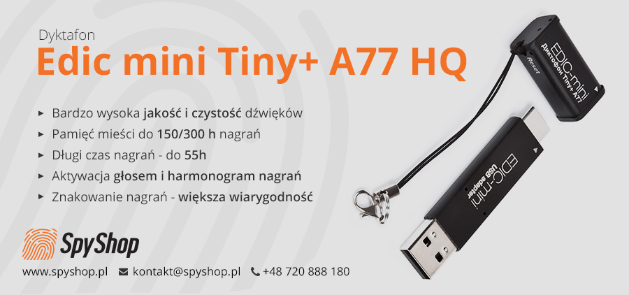 Dyktafon Edic mini Tiny+ A77 HQ