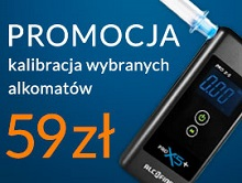 promocja - kalibracja wybranych alkomatów 59 zł